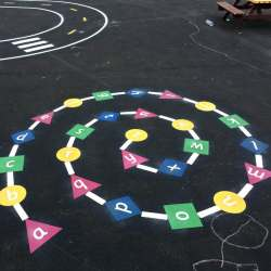 School Playground Markings Cambridgeshire